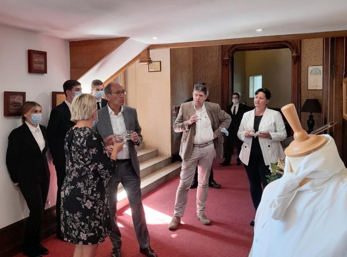 INFA Gouvieux, visite de Eric Woerth et Manoëlle Martin