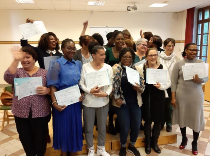 Remise de diplôme pour nos aides-soignantes de l'INFA de Nogent