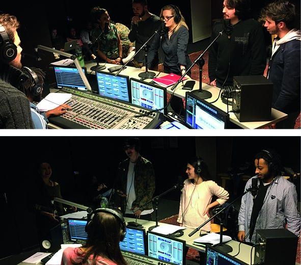 Appropriation du Studio radio par nos stagiaires de la formation Web & Radio de l'INFA Gradignan