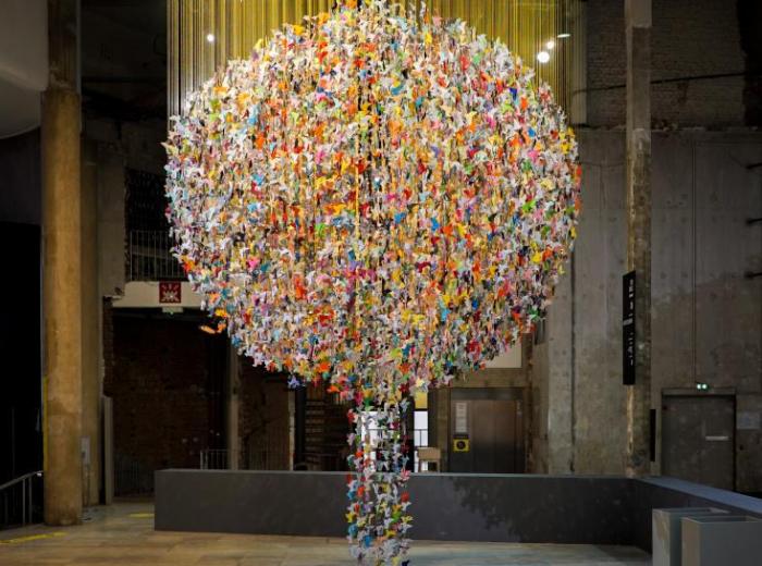arbre en origami INFA Aiguilhe